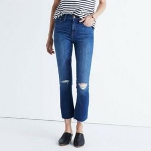 """Madewell 10"""" High Riser Demi Boot Ankle Jeans"""